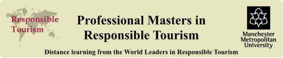 Professional Masters in Responsible Tourism