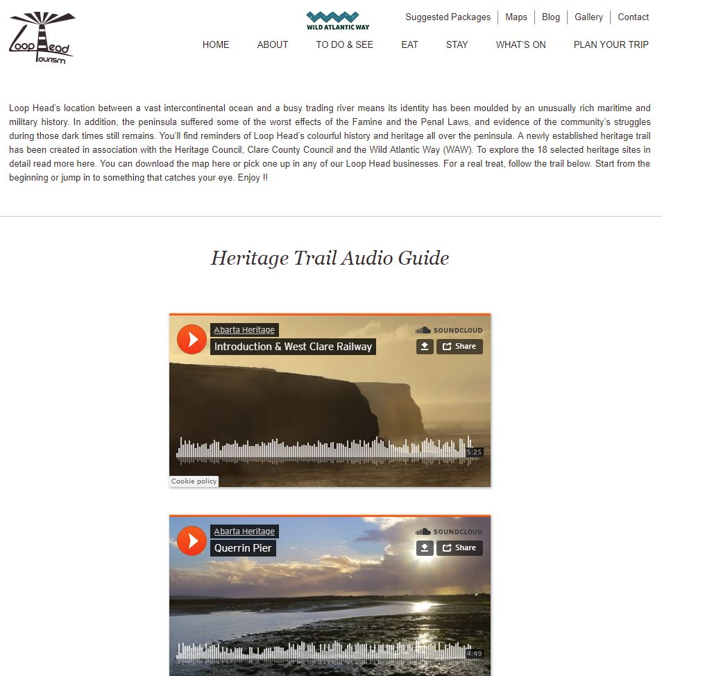 Heritage Trail Audio Guide